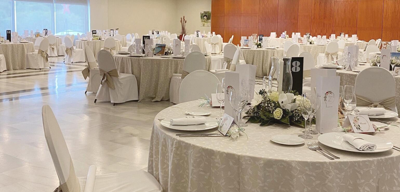Salón Gran Egara para celebraciones en Hotel Don Cándido