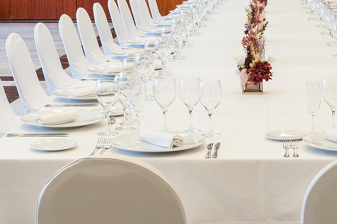 Salón Vallparadís para celebraciones en Hotel Don Cándido